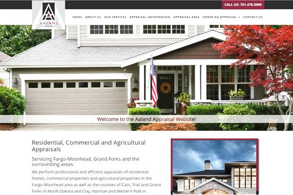 Home Appraisal company website design.