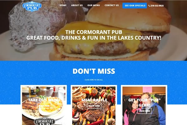 Restaurant websites built by Simple Website Creations.
