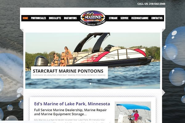 Sell more pontoons and boats with a website from SWC.