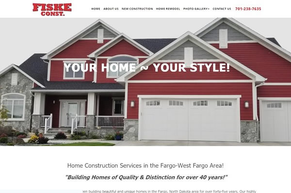 Websites for home builders and construction companies.