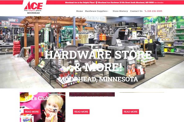 Retail store websites