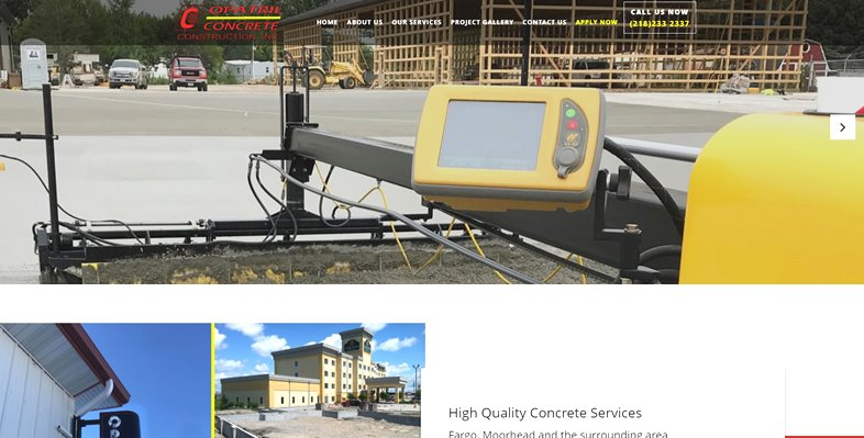 Websites for concrete construction companies.