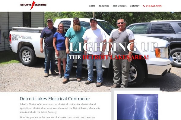 Websites for electricians in Fargo, Moorhead, and Detroit Lakes.