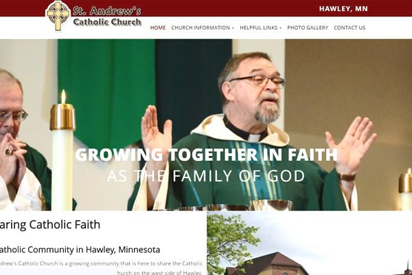 Websites for church and religious organizations.