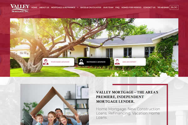 Websites for professional organizations such as mortgage companies.