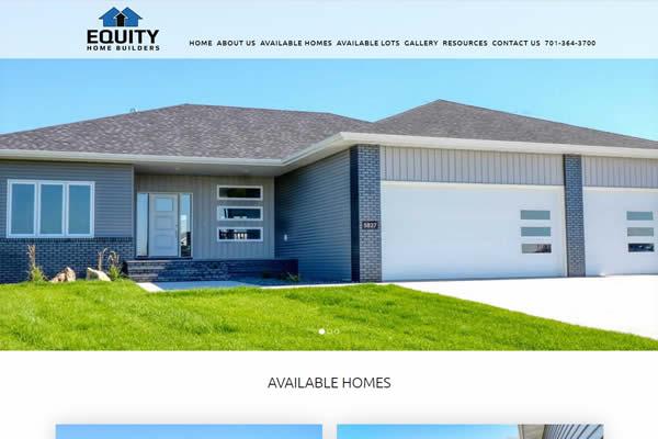 Equity Home Builders Website