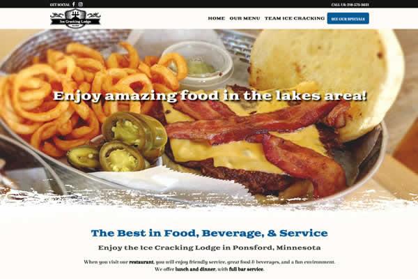 Website design for restaurants.