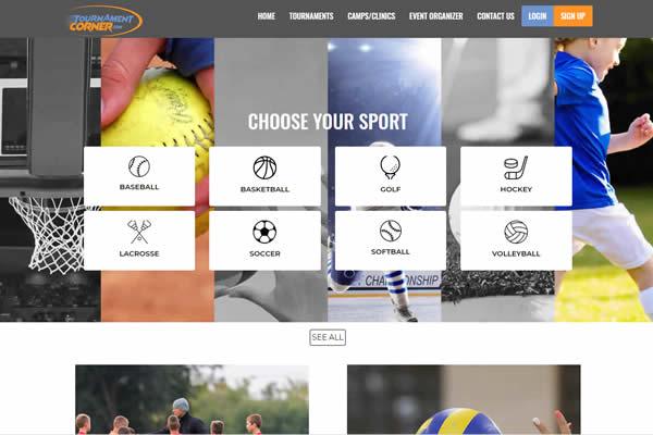 Custom built websites for sports entities.